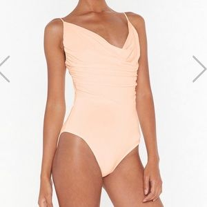 NASTYGAL Cowl  Can I Forget Bodysuit